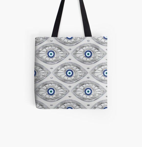 Greek Mati Mataki - Matiasma Evil Eye Pattern #3 All Over Print Tote Bag
