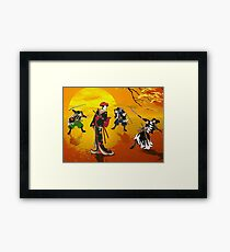 The encounter at sunrise. Framed Print