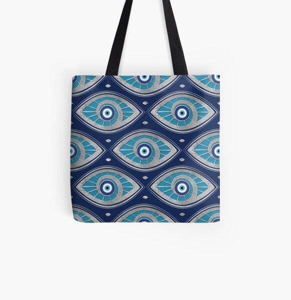 Greek Mati Mataki - Matiasma Evil Eye Pattern #4 All Over Print Tote Bag