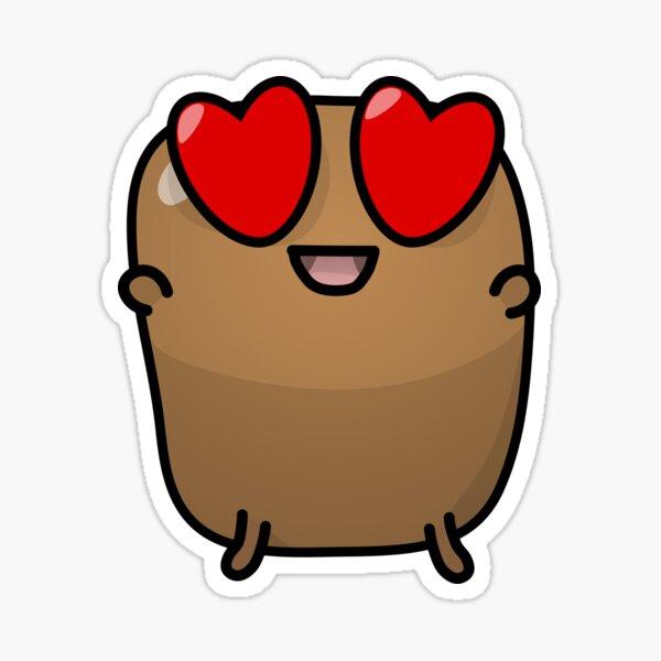 Jagaimo The Potato - Loves Things! Sticker