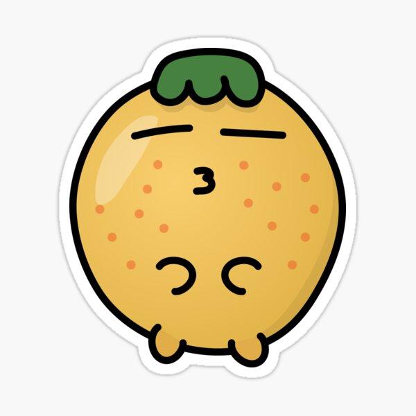 Ike The Orange - Kissing! Sticker