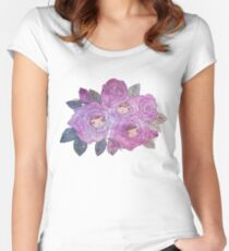 Rose Buds (Pastel) Women's Fitted Scoop T-Shirt