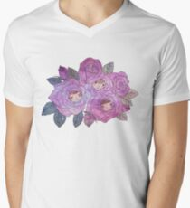 Rose Buds (Pastel) Men's V-Neck T-Shirt