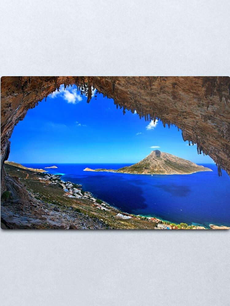Alternate view of Grande Grotta, climbing paradise - Kalymnos island Metal Print
