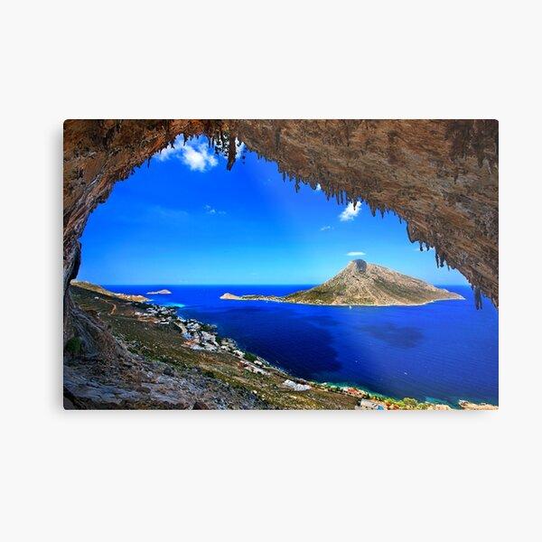 Grande Grotta, climbing paradise - Kalymnos island Metal Print
