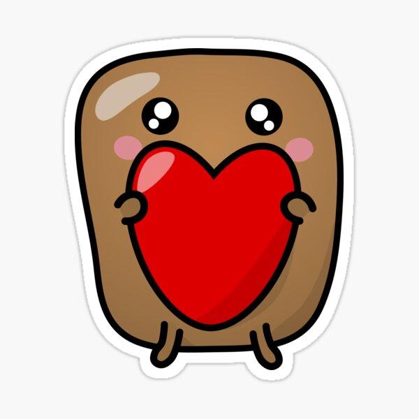 Jagaimo The Potato - The Heart is The Present! Sticker