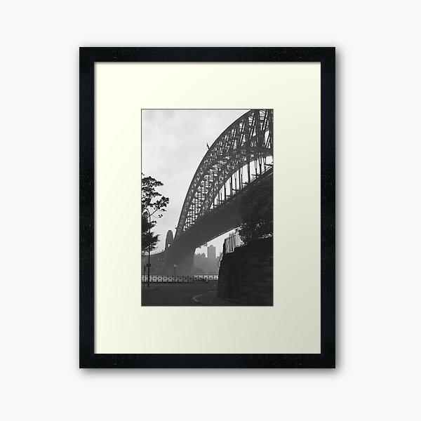 Under the Sydney Harbour Bridge Framed Art Print