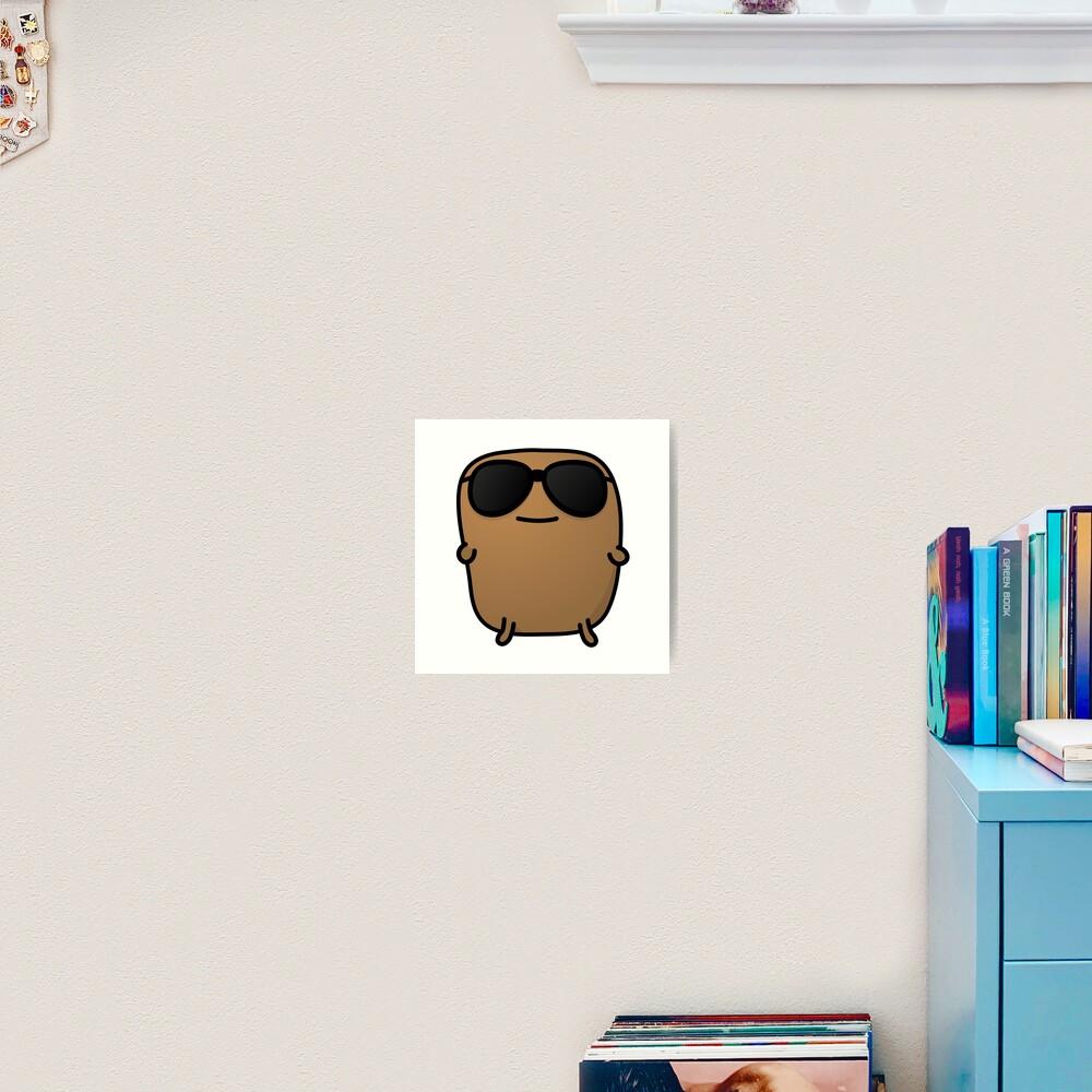 Jagaimo The Potato - Cool with Sunglasses Art Print