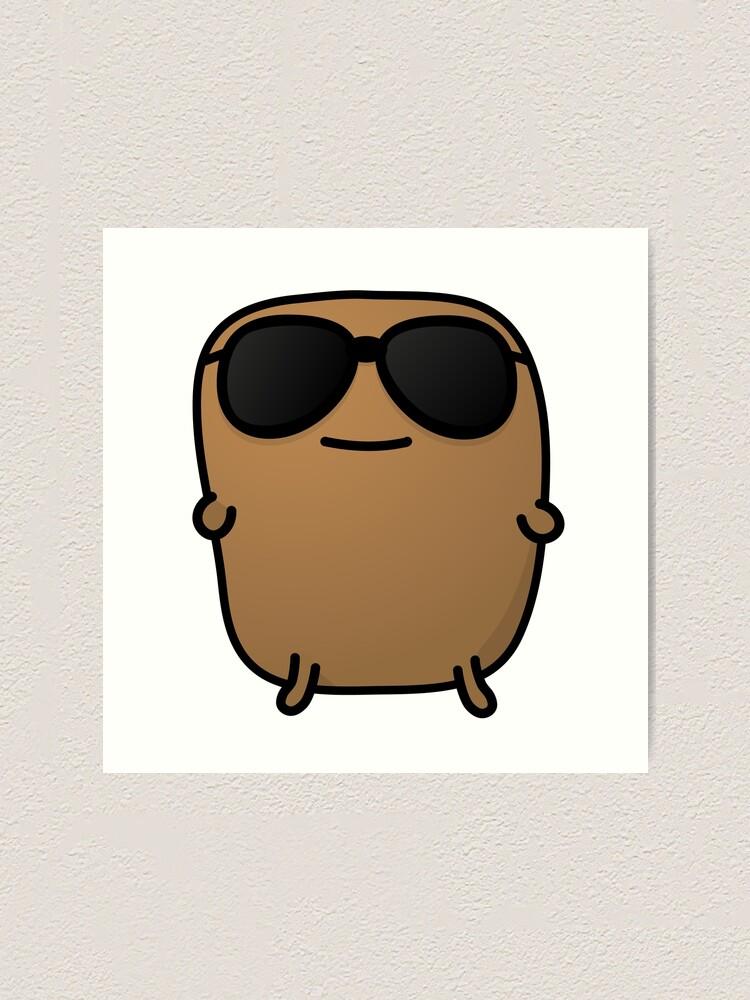 Alternate view of Jagaimo The Potato - Cool with Sunglasses Art Print