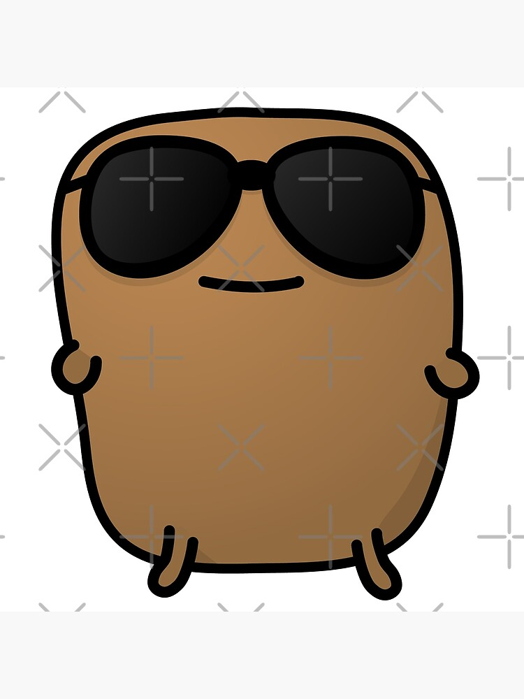 Jagaimo The Potato - Cool with Sunglasses by squarechris