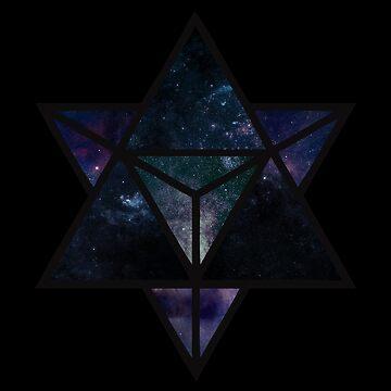 Cosmic Merkaba by CleoLant