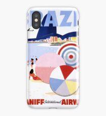 Brazil Vintage Travel Poster Restored iPhone Case
