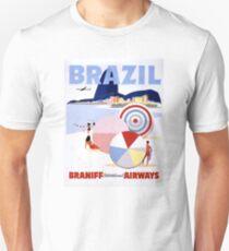 Brazil Vintage Travel Poster Restored Unisex T-Shirt