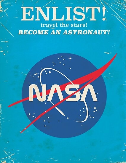 Quot Enlist To Become An Astronaut Vintage Nasa Poster