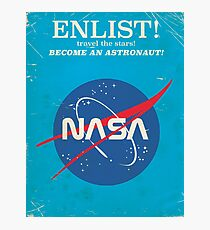Melden Sie sich an, um Astronaut zu werden! Weinlese-NASA-Plakat Fotodruck
