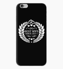 Vinilo o funda para iPhone best wife since 2011 - 8th anniversary gift