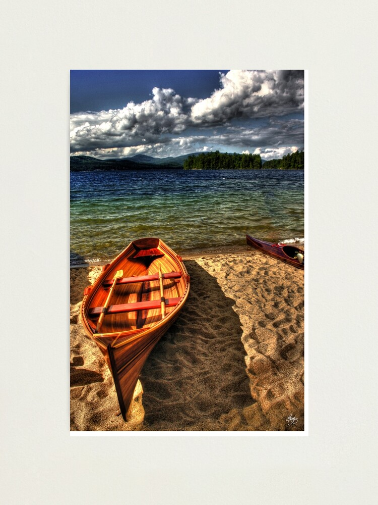 Alternate view of Wooden Rowboat at Wellington Beach Photographic Print