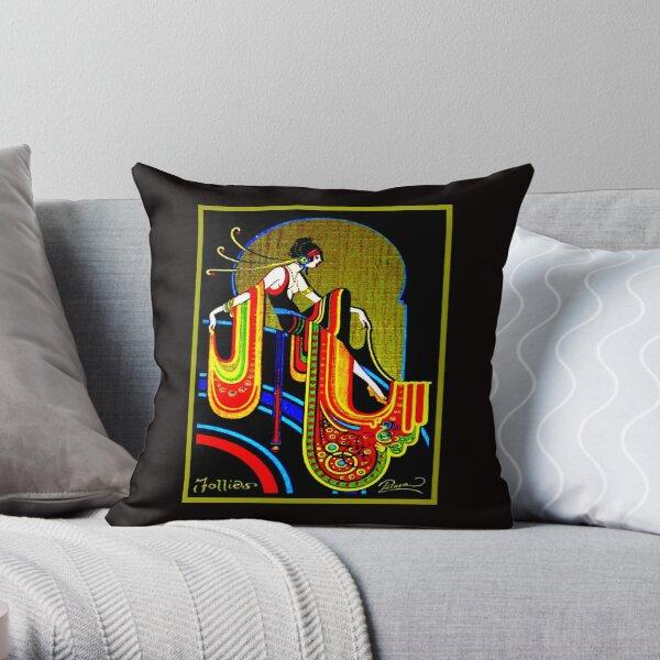 FLAPPER : Vintage 1920 Art Deco Beautiful Print Throw Pillow