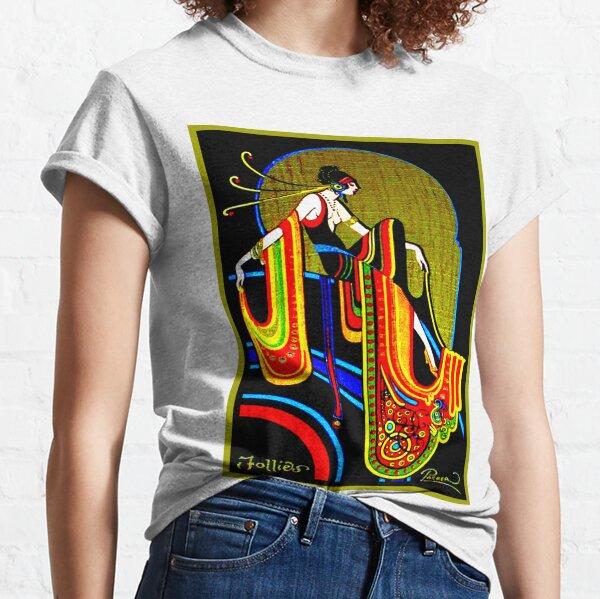 FLAPPER : Vintage 1920 Art Deco Beautiful Print Classic T-Shirt