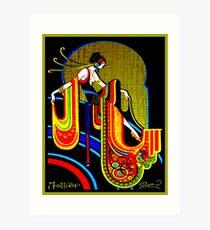 FLAPPER: Jahrgang 1920 Art Deco schönen Druck Kunstdruck