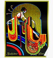 FLAPPER : Vintage 1920 Art Deco Beautiful Print Poster