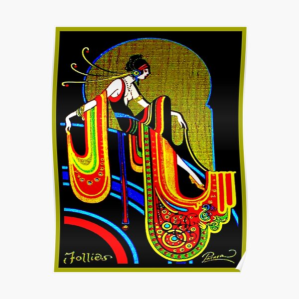 FLAPPER: Vintage 1920 Art Deco Beautiful Print Poster