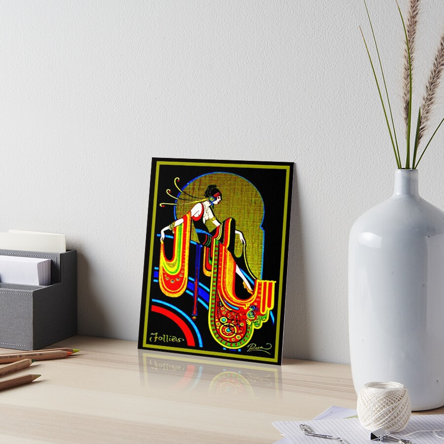 FLAPPER : Vintage 1920 Art Deco Beautiful Print Art Board Print