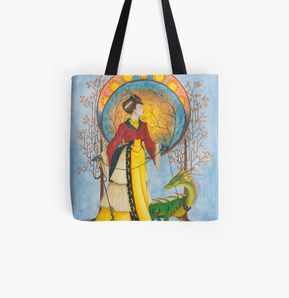 Autumn Walk All Over Print Tote Bag