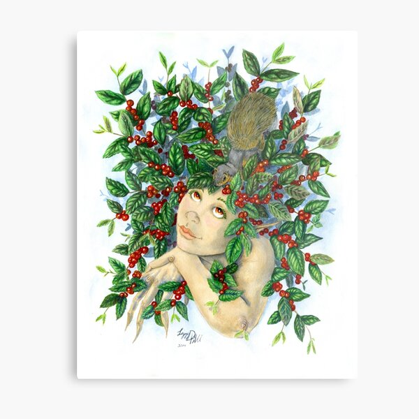 Cherry Dryad Metal Print
