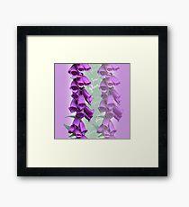 Foxglove Pattern Framed Art Print