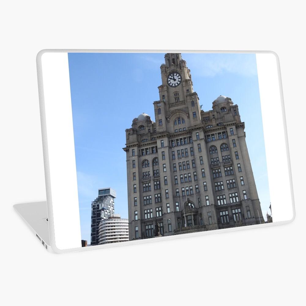 Liverpool Liver Building Photo Laptop Skin