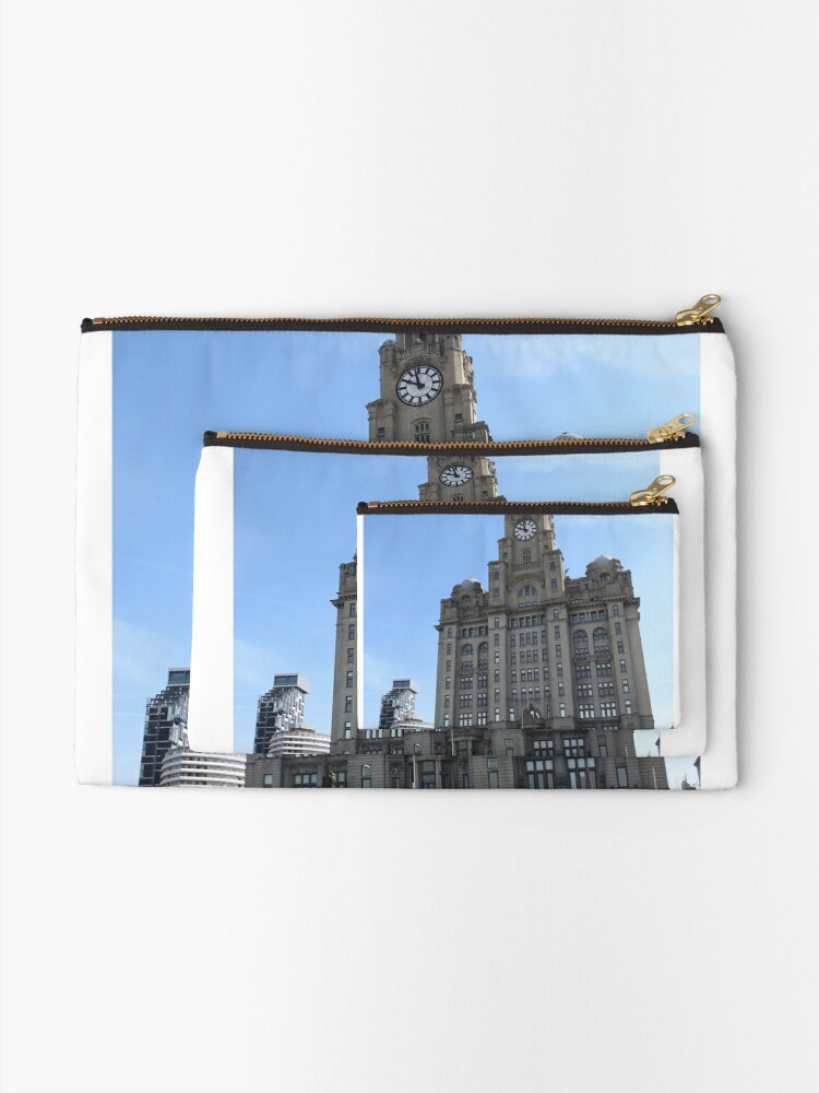 Alternate view of Liverpool Liver Building Photo Zipper Pouch