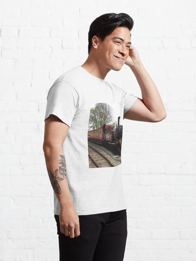 Alternate view of Isle of Man Steam Train Photo Classic T-Shirt