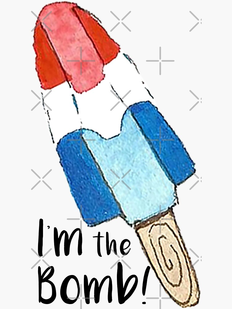 I'm the Bomb - Watercolor Popsicle by annieparsons