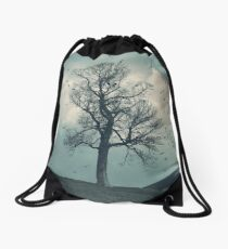 """The Flocking Tree"" by Cat Burton Drawstring Bag"