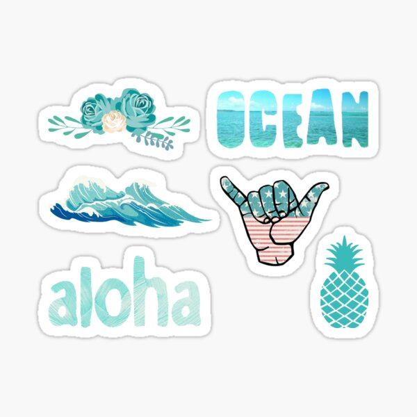 Blue / Teal Aesthetic Pack Sticker
