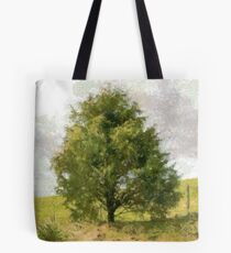 Fence Tree Tote Bag
