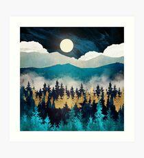 Lámina artística Niebla de la tarde