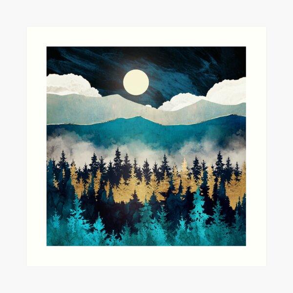 montañas Lámina artística