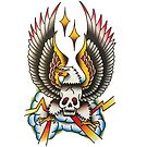 Traditional Eagle Skull Tattoo Design by FOREVER TRUE TATTOO