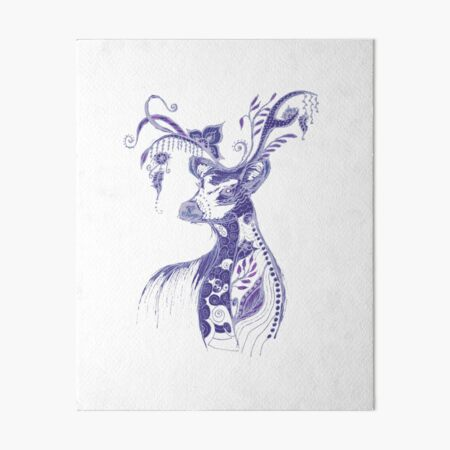 """The illustration """"Deer in the style of Boho"""" (variant 1) Art Board Print"""