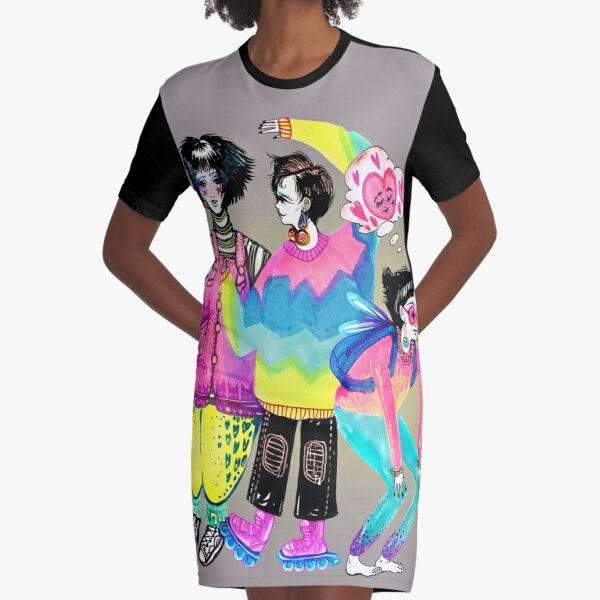 Ladies Graphic T-Shirt Dress