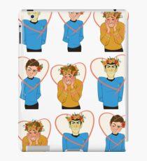 Set of Spock, Jim Kirk, and Bones valentines iPad Case/Skin