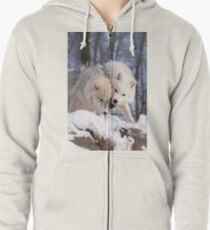 Arctic Wolves Zipped Hoodie