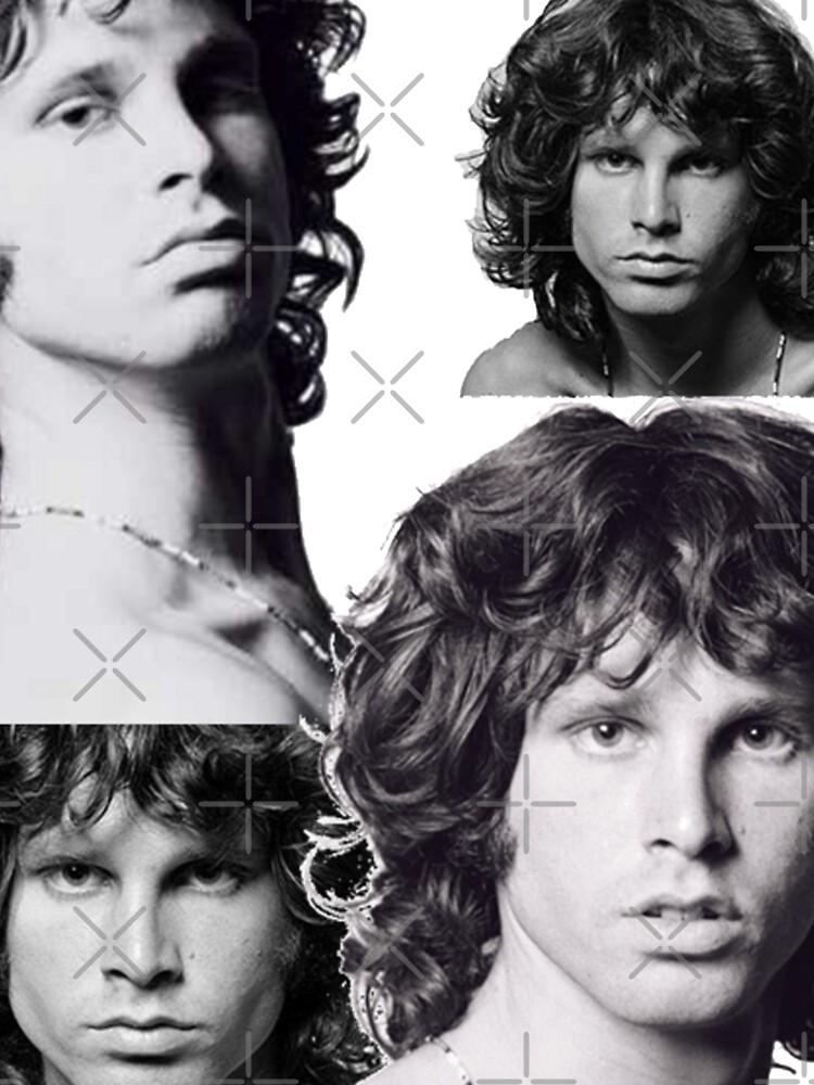 Doors - Jim Morrison Black & White Collage by gehri1tm