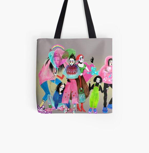 Ladies All Over Print Tote Bag