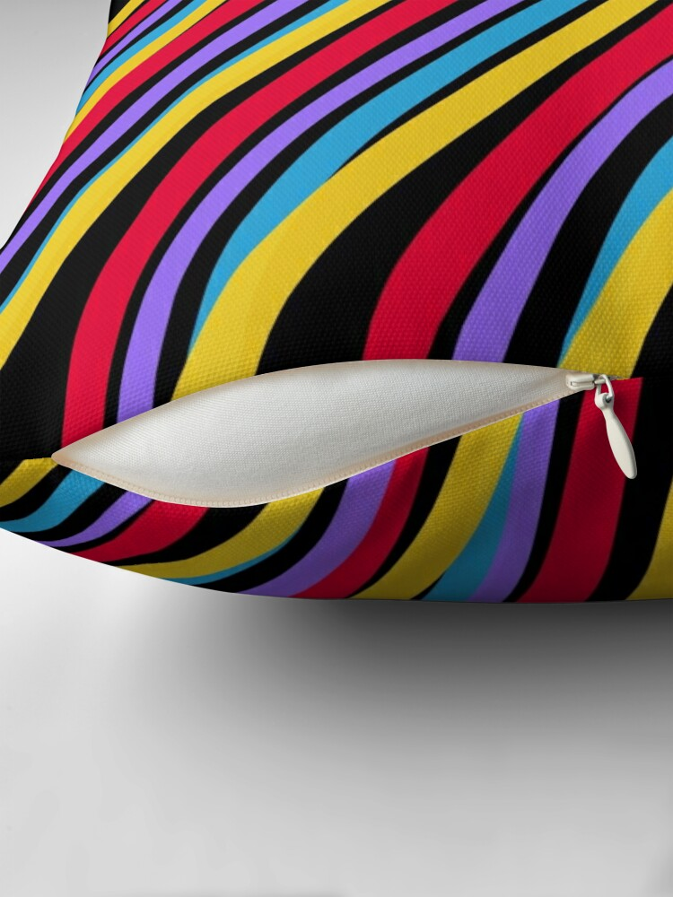 Alternate view of Streaking by OneDayOneImage - 80s Style - Pop Art - Graduation Gift Idea Throw Pillow