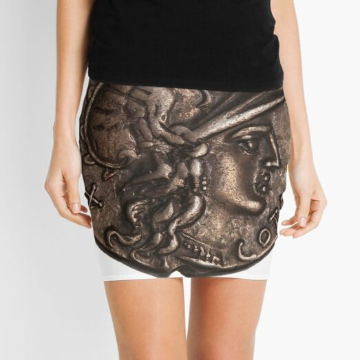 #coin #currency #copper #history Dime metal nickel art old metalwork symbol wealth ancient bronze  Mini Skirt
