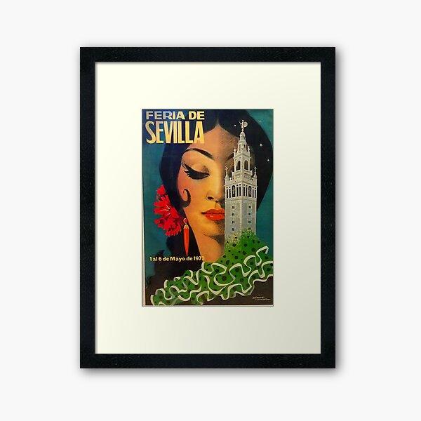 Feria de Sevilla Vintage Print Framed Art Print