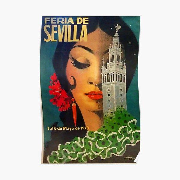 Feria de Sevilla Vintage Print Póster